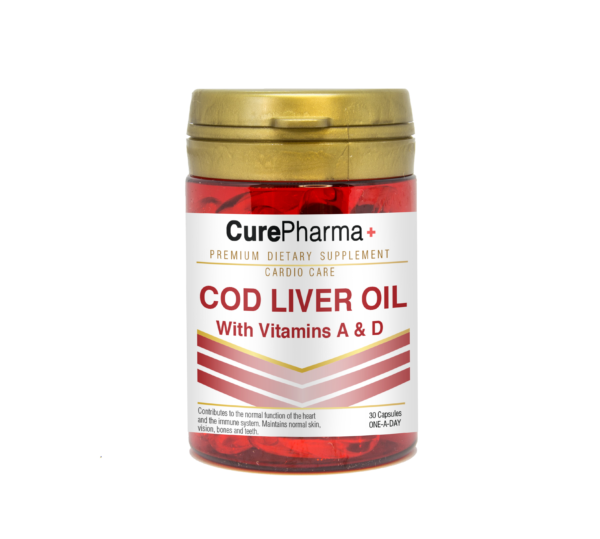 CurePharma CPC02 Cod liver oil With Vitamin A & D Capsules