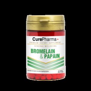 CurePharma CPG03 Bromelain 10mg & Papain 100mg Tablet