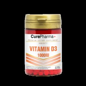 CurePharma CPI08 Vitamin D3 1000iu Tablets