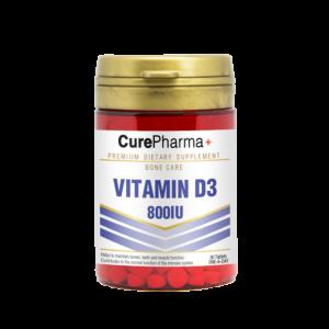 CurePharma CPJ07 Vitamin D3 800iu Tablets