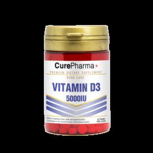 CurePharma CPJ08 Vitamin D3 5000iu Tablets