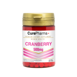 CurePharma CPW01 Cranberry 500mg 30 Tablets